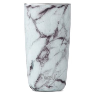 S'well White Marble Stainless Steel Insulated Tumbler  Cup (lid sold separately... so dumb)