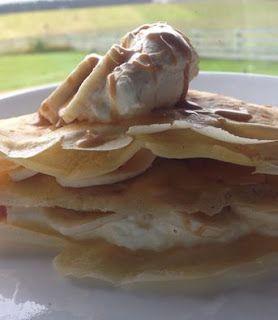 Banoffe pancakes using millionaires caramel from www.kiwicakes.co.nz