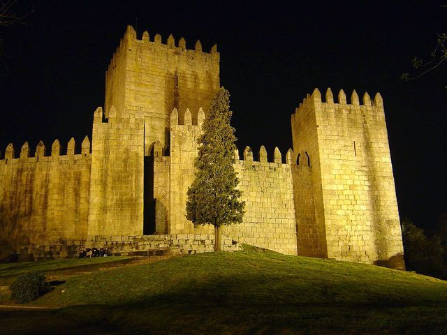 Guimaraes Castle at Night