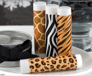Leopard Lips Balm Favor | Zebra Theme Party | Animal Print Favor