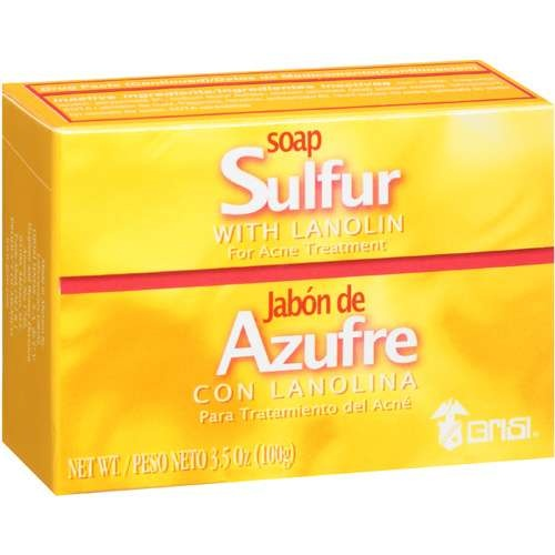 Grisi For Acne Treatment Sulfur Soap With Lanolin, 3.5 oz about $2.00