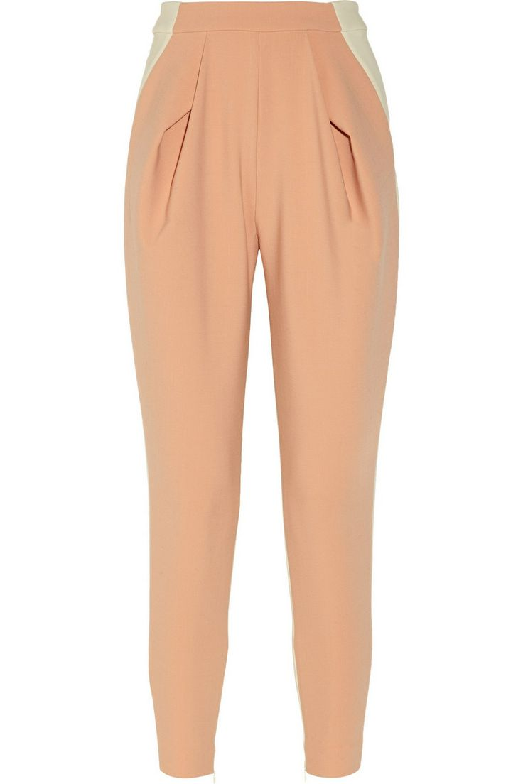 DELPOZO | Two-tone stretch-crepe pants | NET-A-PORTER.COM