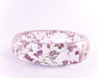 Pink Love, epoxy hars armband, uniek cadeau, bloemen en glitters, sparkle, gedroogd gipskruid, roze armband, handgemaakte armband, uniek