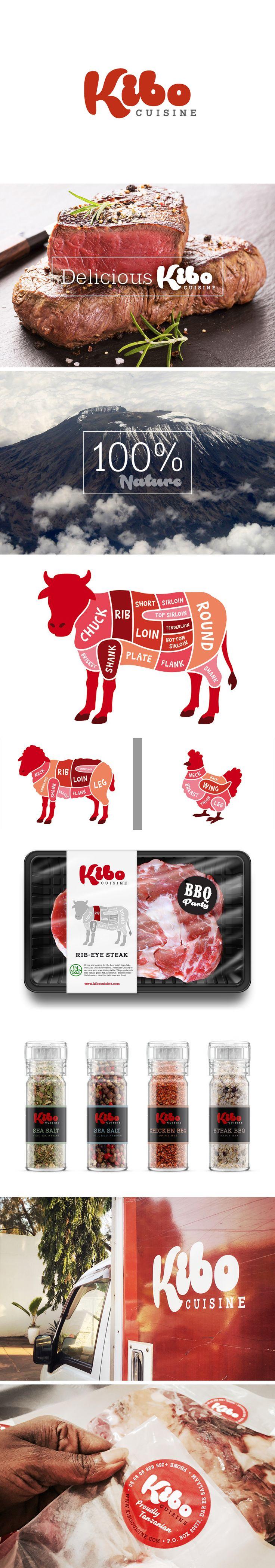 Kibo Cuisine Branding. Tanzania Company. Design by 12ender, Cologne