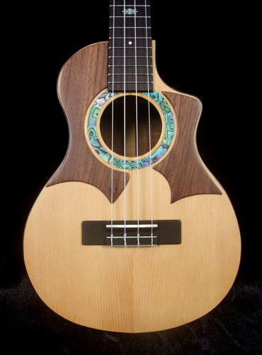 Solid Walnut Tenor Ukulele Aquila String MOP Inlay