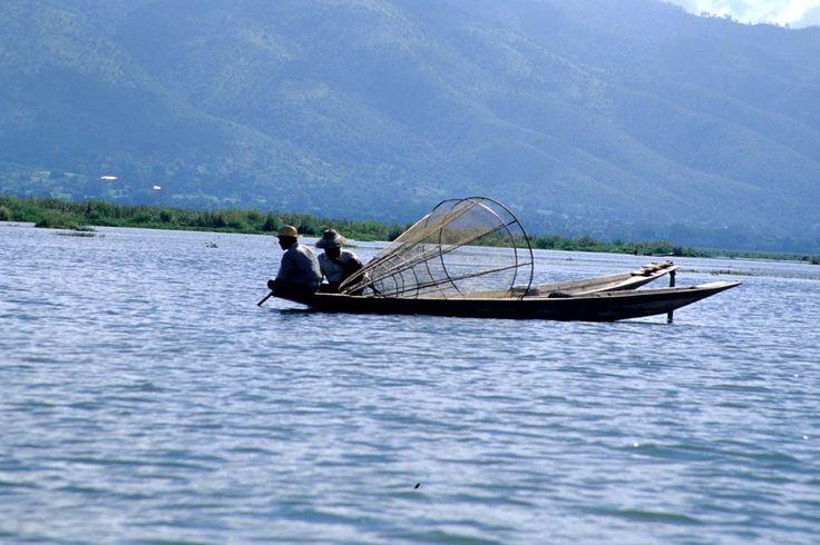 Lago Inle: pescatori
