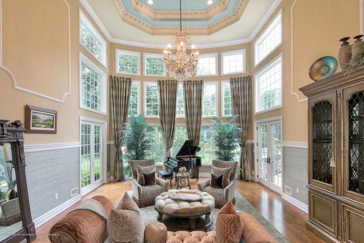 Stunning Great Room at 3 Michaels Way in Colts Neck, NJ! #luxuryfurniture #luxurylifestile #realestate