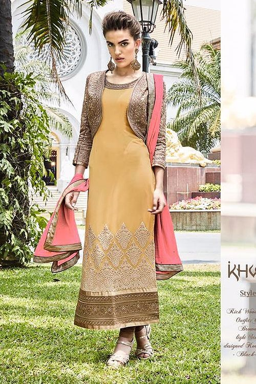 Mustard Pure Georgette Embellished Straight Cut Asian Suits  - Google Search    #SalwarKameez   #Shalwarkameez  #Indiandresses  #Indiansuits  #Indianfashion  #indianclothes  #Indianoutfits  #salwarsuits  #churidarsuits  #DesignerSalwarSuits  #palazzosuits
