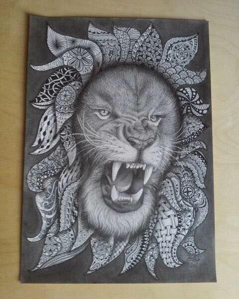 Állat rajz és Zentangle - Inhoff Anita