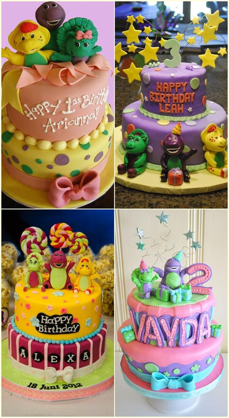 Barney And Friends Birthday Cake Ideas