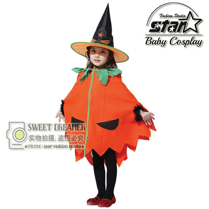 >> Click to Buy << Girls Dress Halloween Candy Pumpkin Orange Cotton Dress Carnival Performance Stage Costume  Children Masquerade Party Clothes #Affiliate