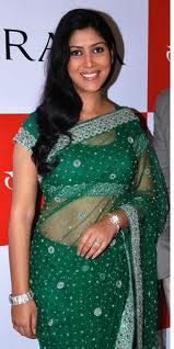 Sakshi Tanwar one of the biggest celebrity of television world in green #saree #sari