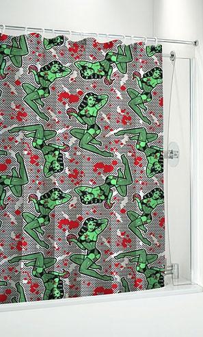Fishnet Zombie Shower Curtain Awesomeness Pinterest
