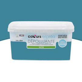 Peinture dépolluante bleu pétrole satin 2,5L