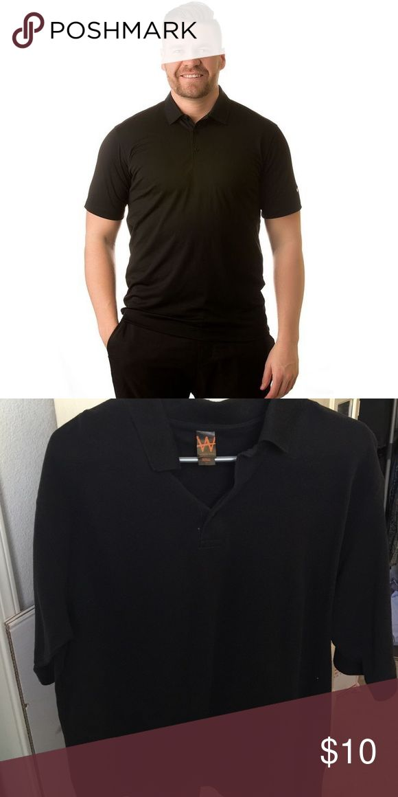 Black Polo Shirt Good condition. No holes or stains. A little linty from storage. No trades. Make an offer apparel wiz man Shirts Polos