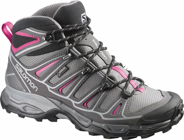 Salomon X Ultra Mid 2 GoreTex Womens Hiking Boot - Detroit/Autobahn/Hot Pink