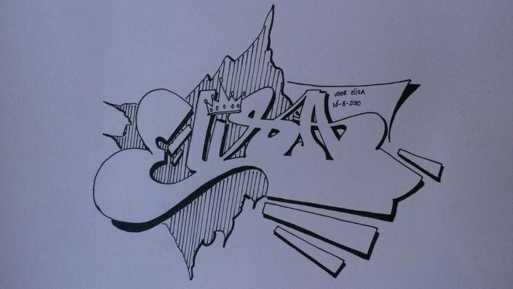 For Elisa! Love you always!! RIP    Graffiti  RK