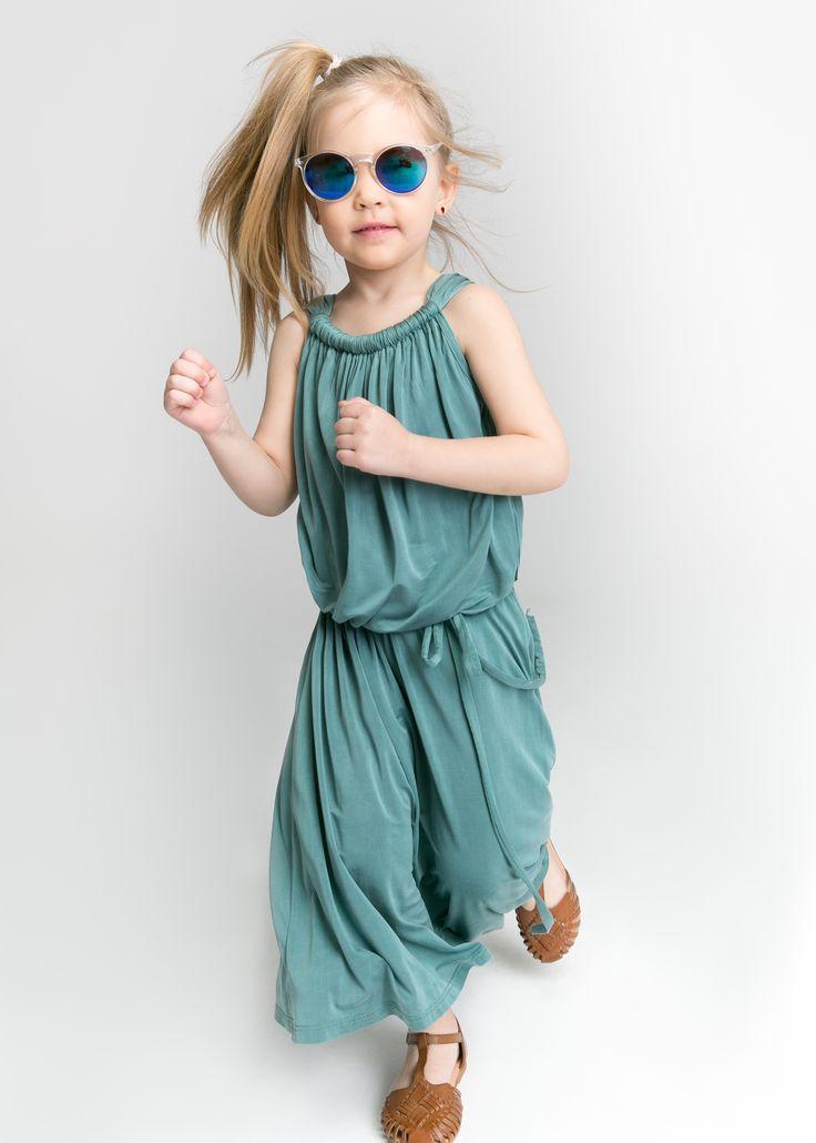 Tourquoise cupro Dress for girl  #maxidress #elegantdress #fashionkids #sukienkadladziewczynki