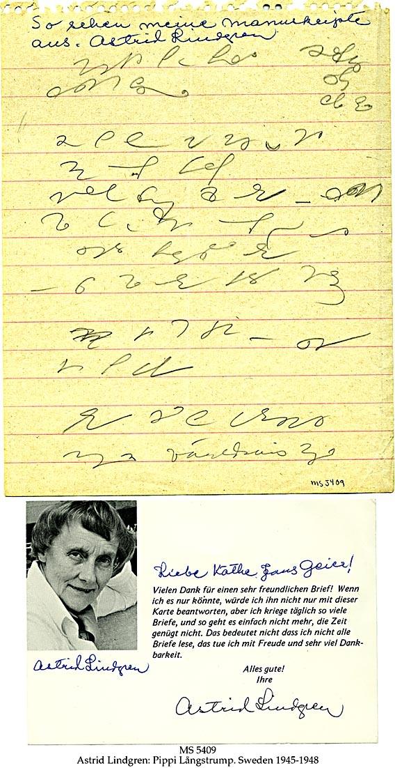 Astrid Lindgrens letter