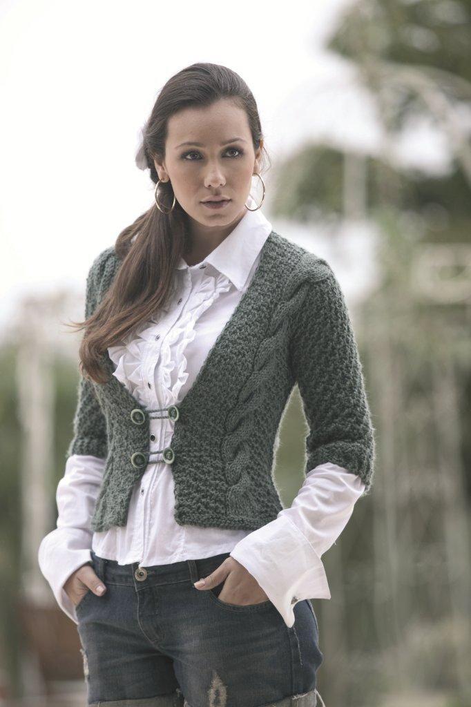 Casaco Verde - Lã Seda