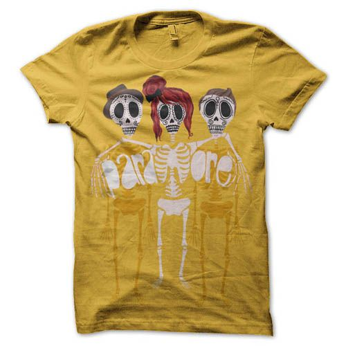 Paramore Shirt- I don't really like the mustard- yellow color, but would definitely still wear it!