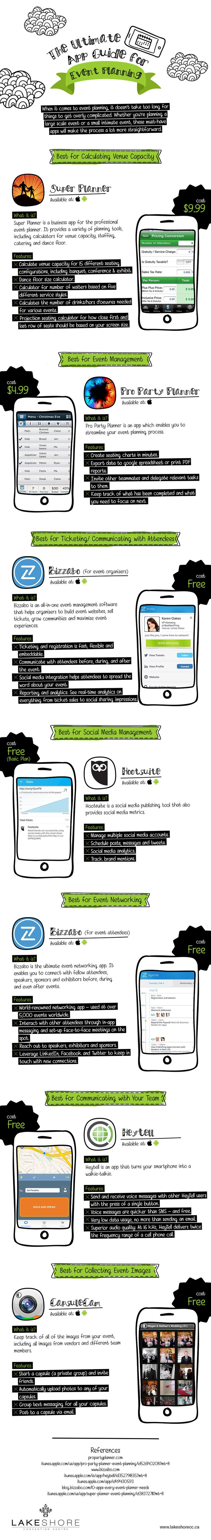 The Ultimate App Guide for Event Planning Infographic