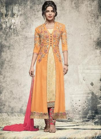 Priyanka Chopra Latest Salwar Kameez Online Shopping ,Indian Dresses - 1