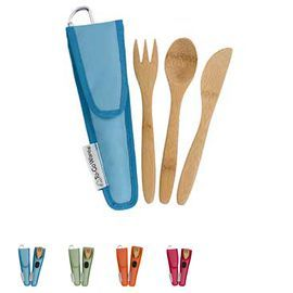 To Go Ware KIDS Bamboo Utensil Set available in Berry, Kiwi, Orange, & Melon.