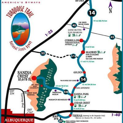 Guide to Driving the Turquoise Trail