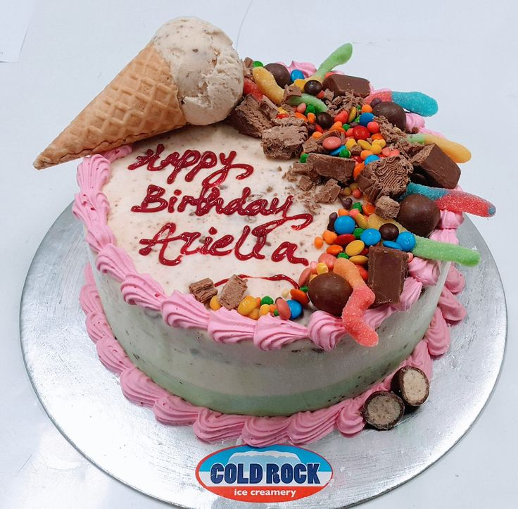 the best birthday cake is a cold rock ice cream cake