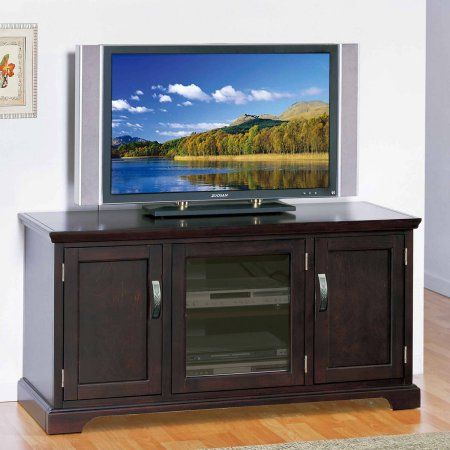 Leick Home Chocolate Cherry 50 inch TV Stand for TV's up to 50 inch, Red