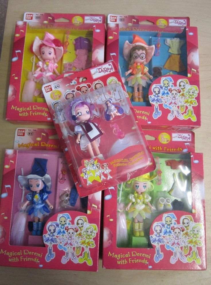 5 Magical Doremi Manga Actionfiguren Dolls Puppen OVP BANDAI 2001