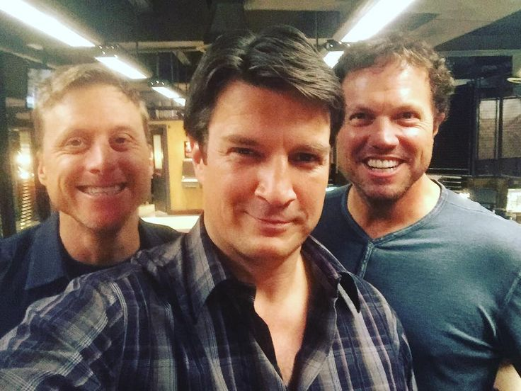 "From Nathan's Instagram ""Does this win the Internet, or break it? #coolboys"" nathan fillion alan tudyk adam baldwin"