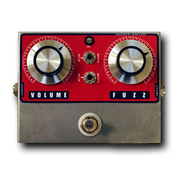 Very cool looking fuzz pedal- Designed by Jesse Davey.