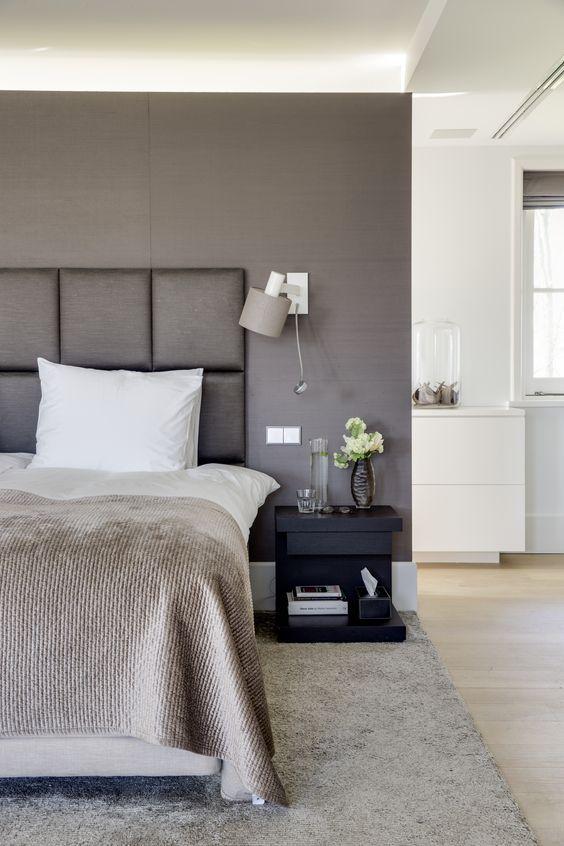 Contemporary grey bedroom design