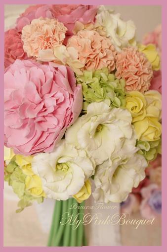 Clay Flower Wedding Bouquet