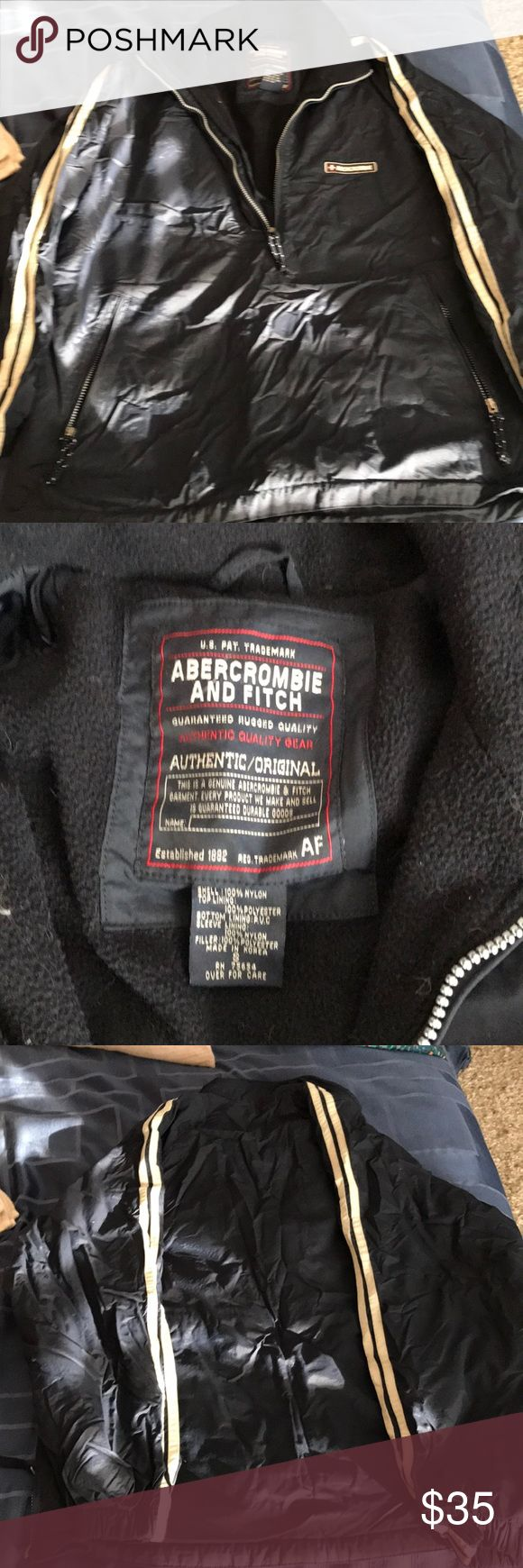 Navy blue Abercrombie coat Pullover Abercrombie men's winter coat Abercrombie & Fitch Jackets & Coats Puffers