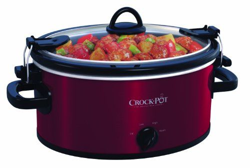 Crock-Pot SCCPVL400-R 4-Quart Cook and Carry Slow Cooker, Red Stainless Steel // http://cookersreview.us/product/crock-pot-sccpvl400-r-4-quart-cook-and-carry-slow-cooker-red-stainless-steel/  #cooker #pressure #electric