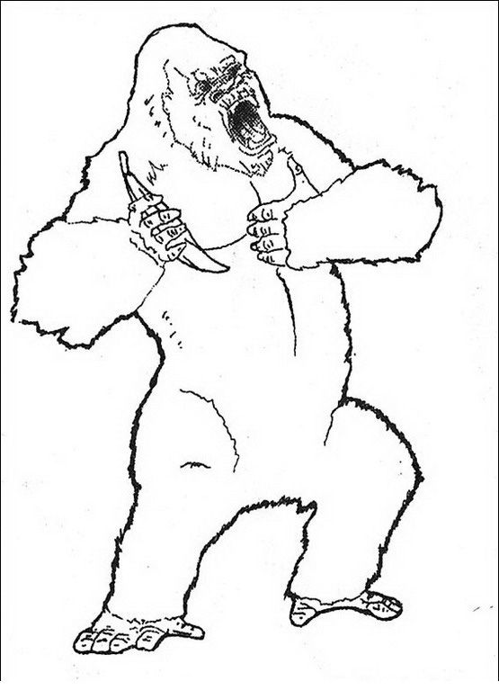 King Kong Coloring pages for kids