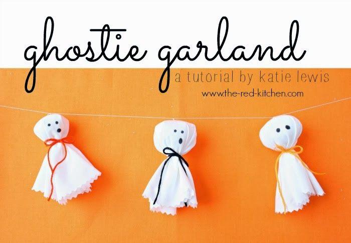 the red kitchen: Ghostie Garland Tutorial
