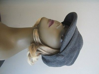Grey Wool-Blend #Newsboy Cabbie  If the hair length is not for you, it can be easily trimmed by a professional hair stylist to achieve the desired length.