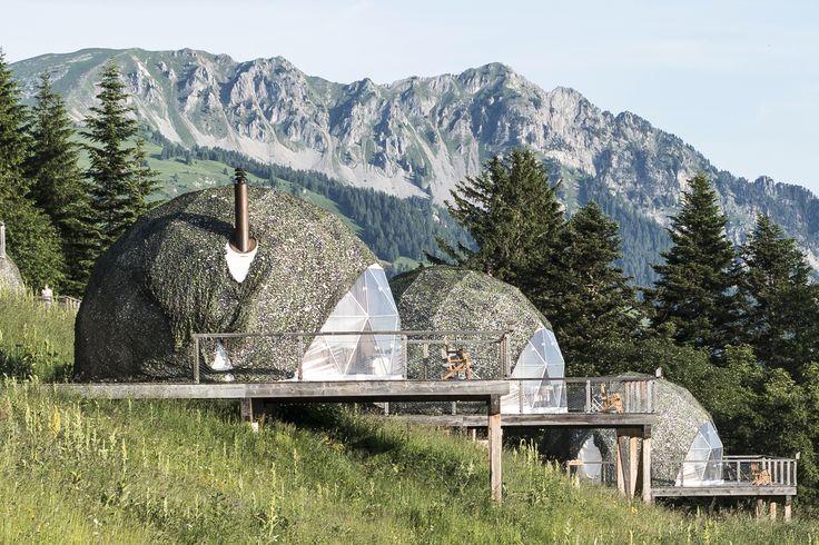 Hey! This is us :) | Whitepod, Les Giettes, VS #alpineexperience #switzerland #swissalps