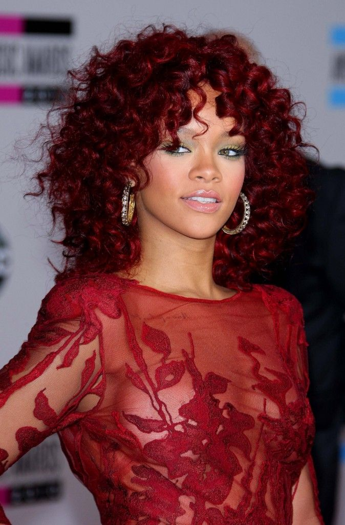 Rihanna's red is on point
