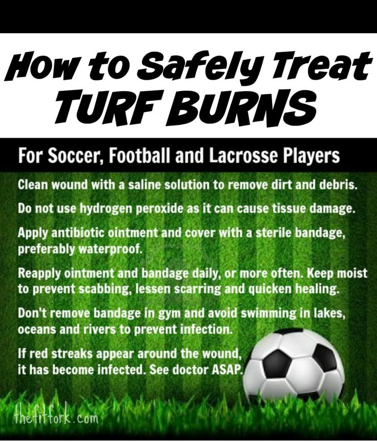 How to Safely Treat Turf Burn on Soccer, Football and Lacrosse Players. http://standouthealth.com