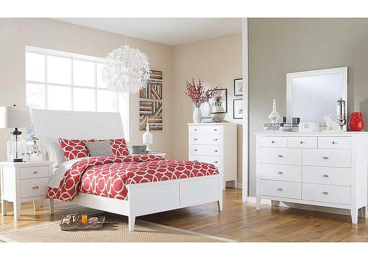 Grice Furniture Direct Langlor Queen Sleigh Bed, Dresser U0026 Mirror