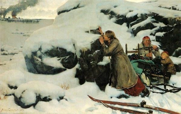 Finnish Painter: Albert Edelfelt (1854 – 1905), 'Burnt Village'