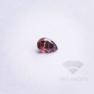 DIAMOND SPECIAL: 0.513ct, Pear Shape, Intense Fancy Pink Brown, I1 (colour not authenticated). Only $1000/ct.