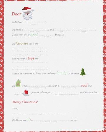 22 best note paper images on pinterest note paper free printable letters to santa martha stewart spiritdancerdesigns Gallery