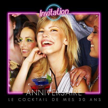 Invitation anniversaire cocktail film