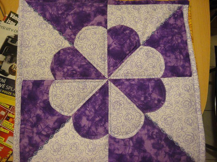 povlak na polštář fialový